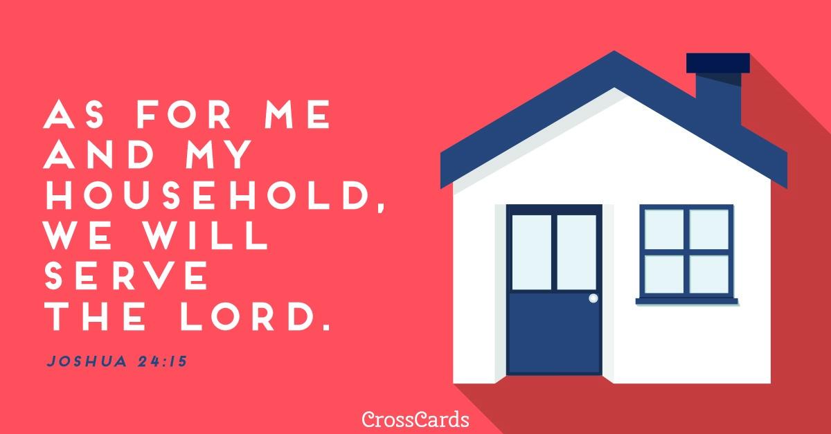 Joshua 24:15 ecard, online card