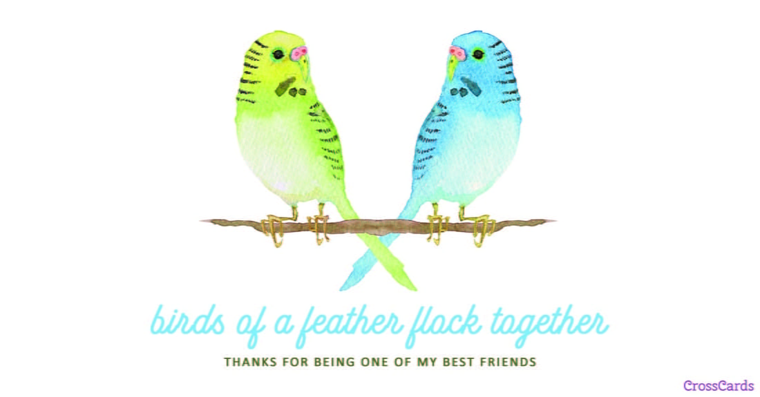 Birds of a Feather ecard, online card