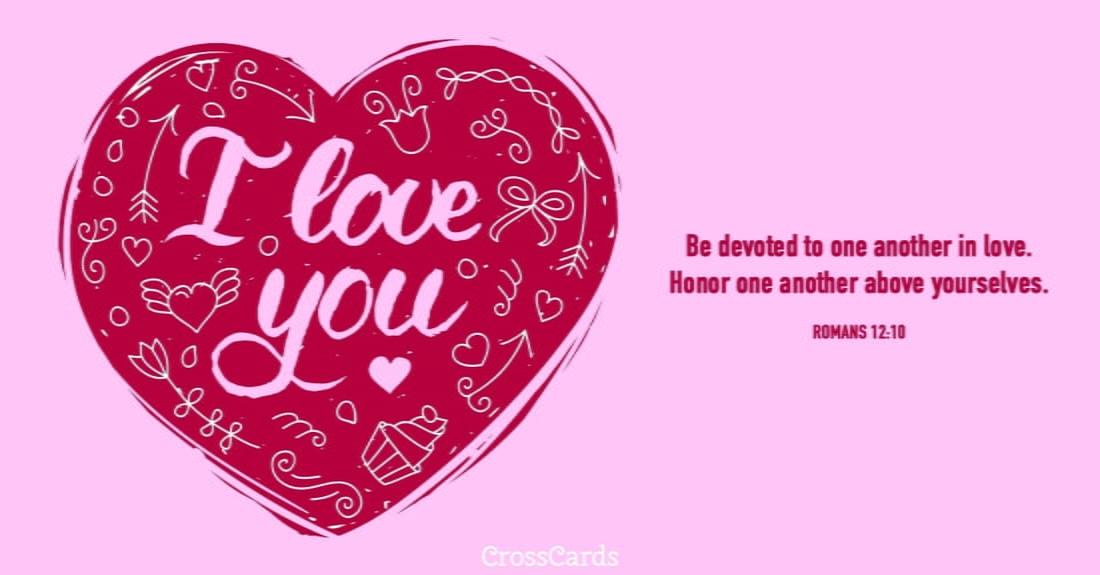 I Love You ecard, online card