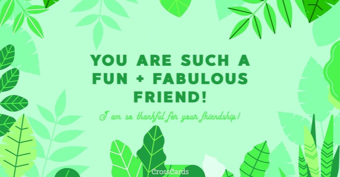 Fun + Fabulous ecard, online card