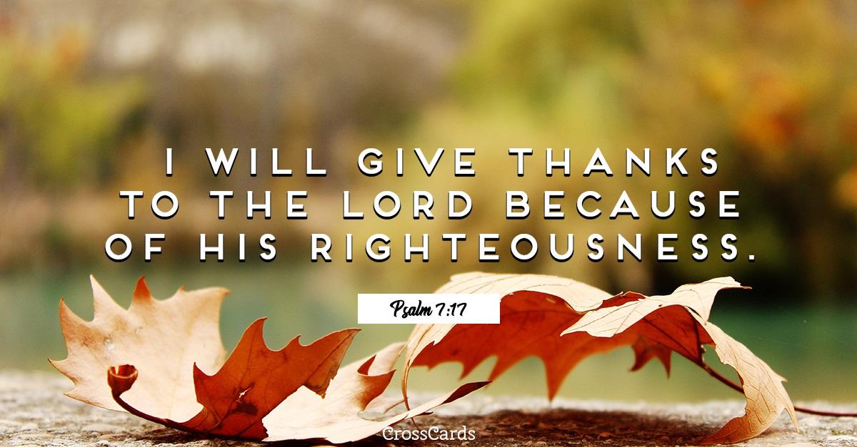 Psalm 7:17 ecard, online card