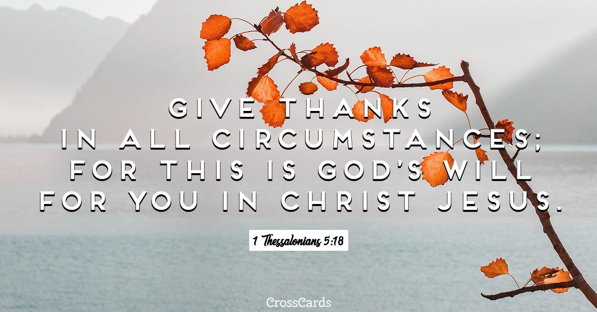 1 Thessalonians 5:18 ecard, online card