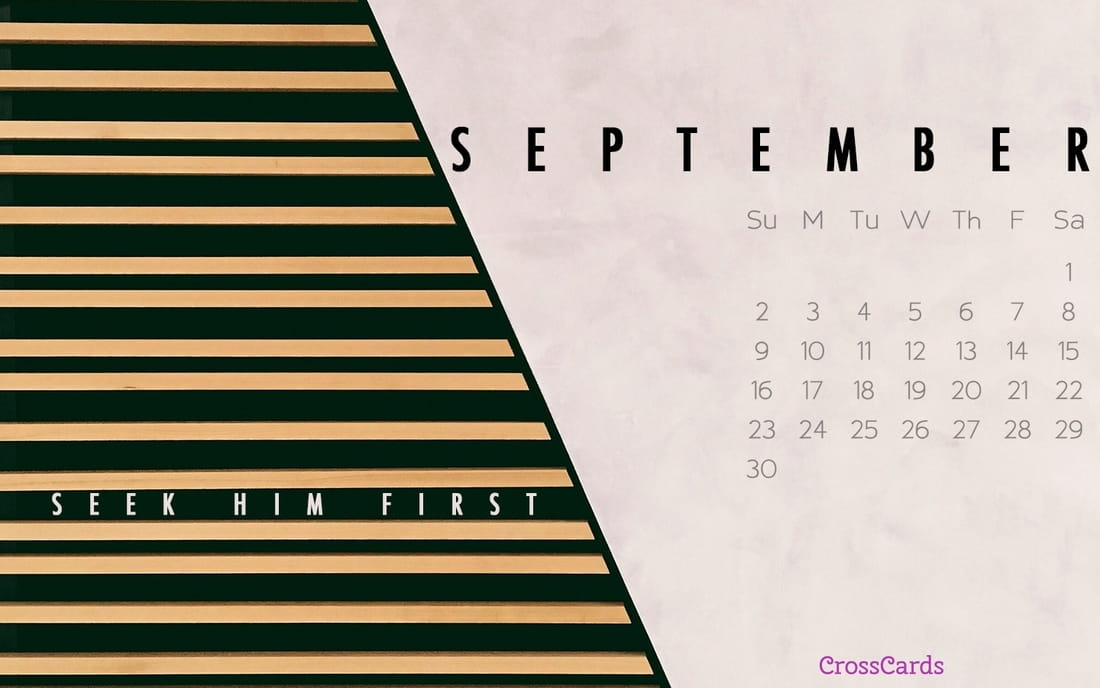 September 2018 - Seek Him First ecard, online card