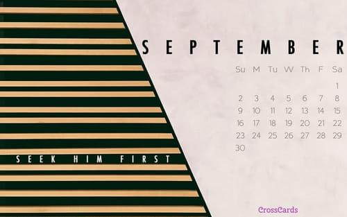 September 2018 - Seek Him First mobile phone wallpaper