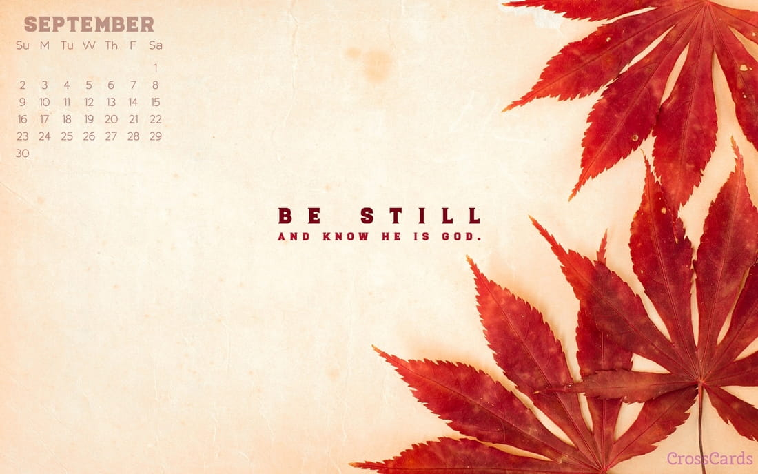 September 2018 - Be Still ecard, online card