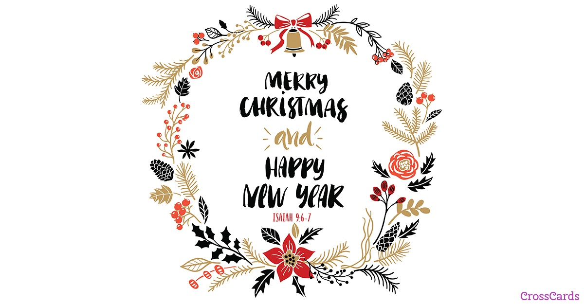 Merry Christmas and Happy New Year ecard, online card