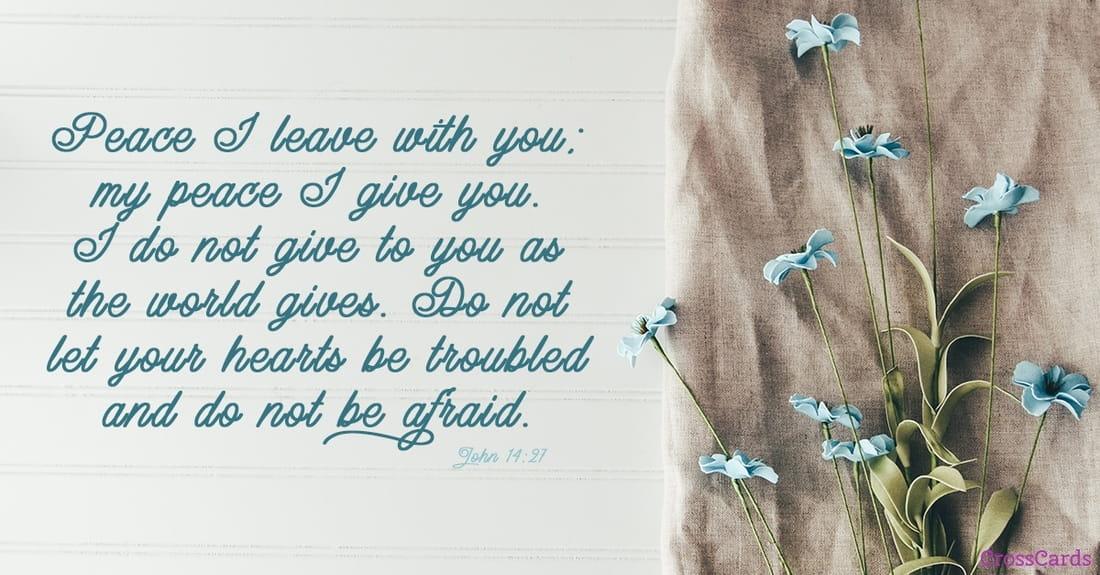 John 14:27 ecard, online card