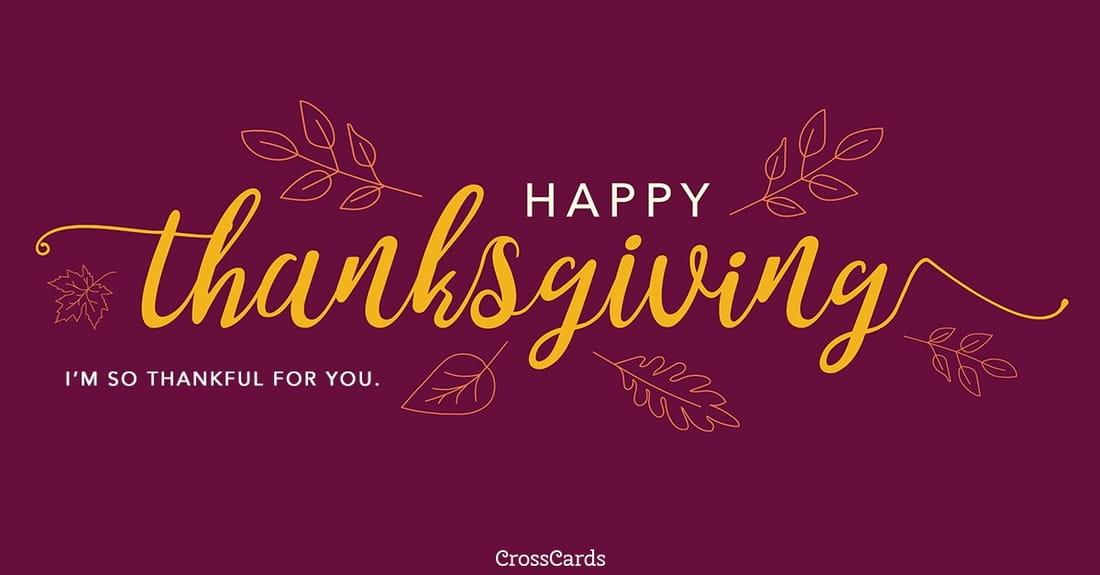 Happy Thanksgiving ecard, online card