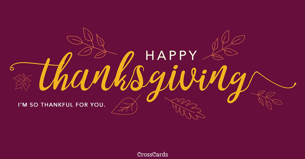 Happy Thanksgiving ecard, online card