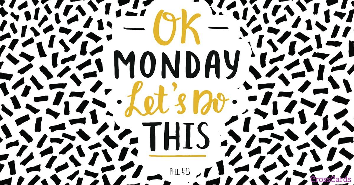 Ok Monday ecard, online card