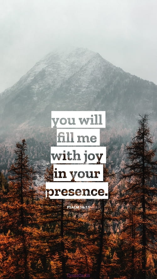 Psalm 16:11 mobile phone wallpaper