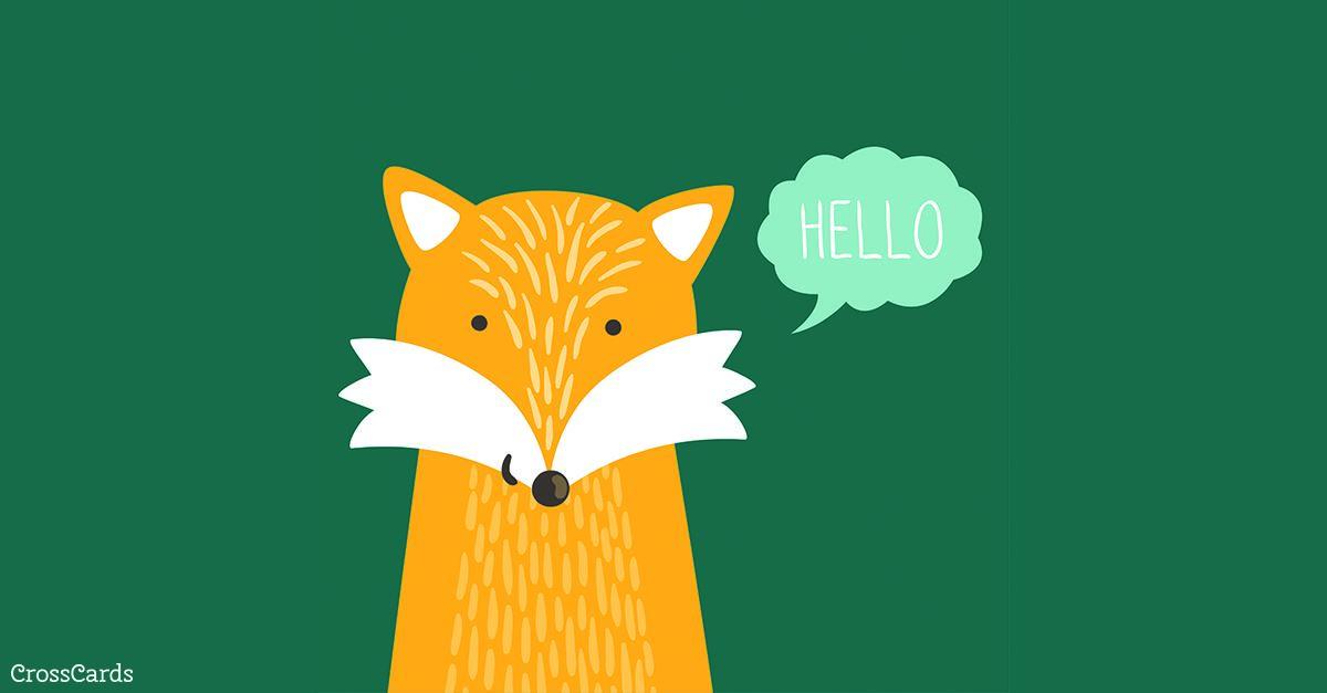 Hello ecard, online card