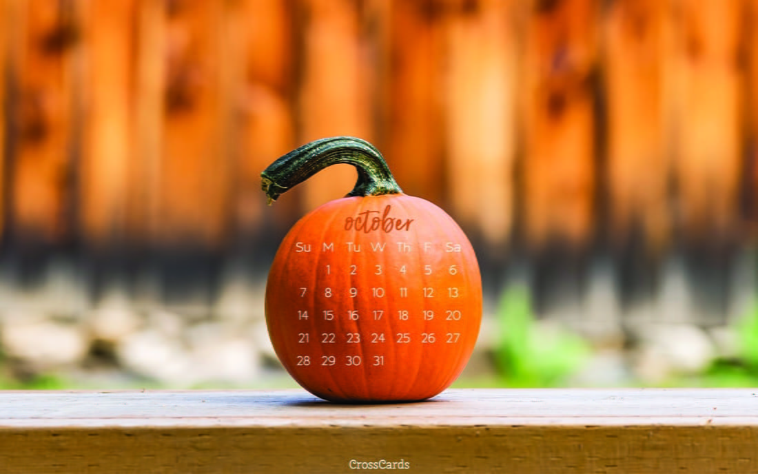 October 2018 - Pumpkin ecard, online card