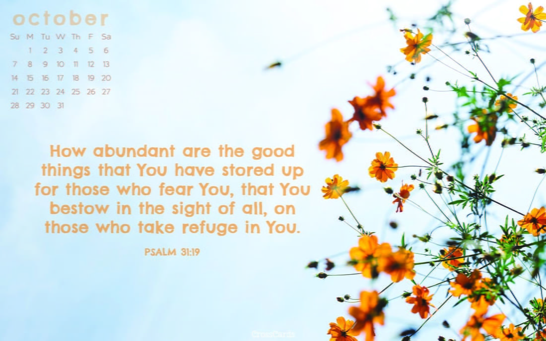 October 2018 - Psalm 31:19 ecard, online card