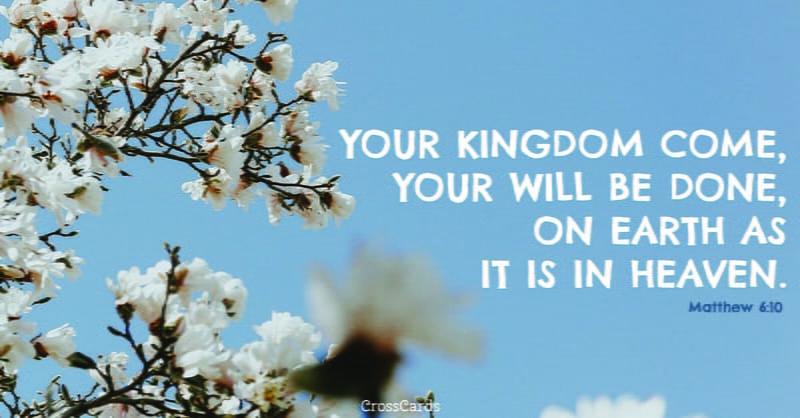 Matthew 6:10 ecard, online card