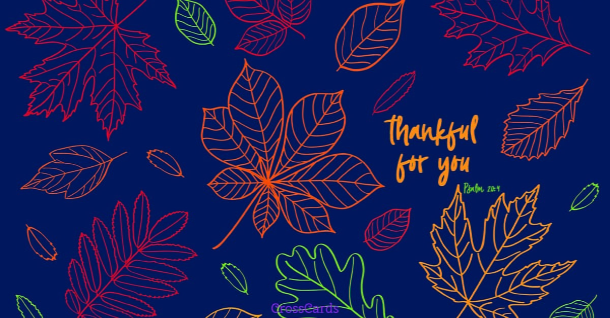 thankful for you - Holiday Cards Online