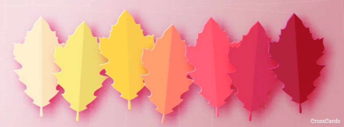 Fall Leaves ecard, online card