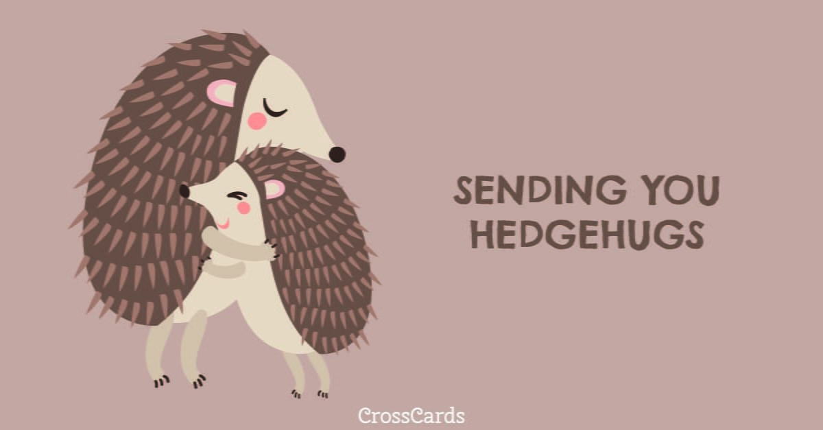 Hedgehugs ecard, online card