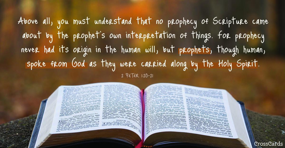 2 Peter 1:20-21 ecard, online card