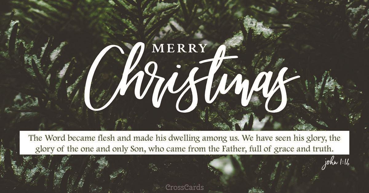 Merry Christmas - John 1:14 ecard, online card