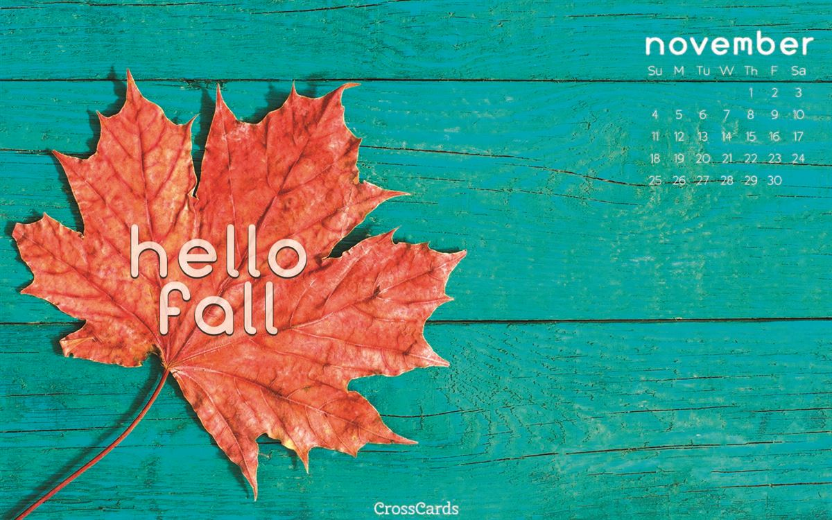 November 2018 - Hello Fall ecard, online card