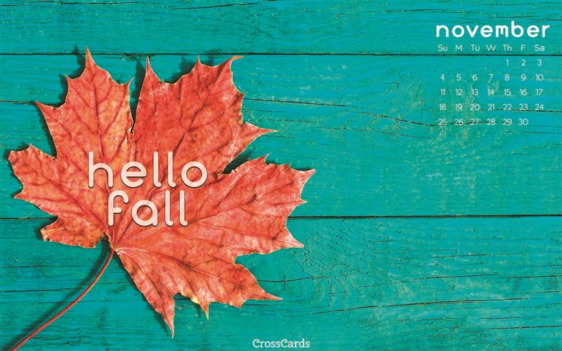 November 2018 - Hello Fall mobile phone wallpaper