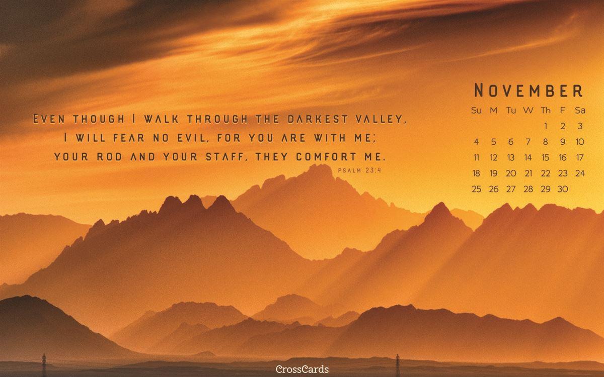 November 2018 - Mountains ecard, online card
