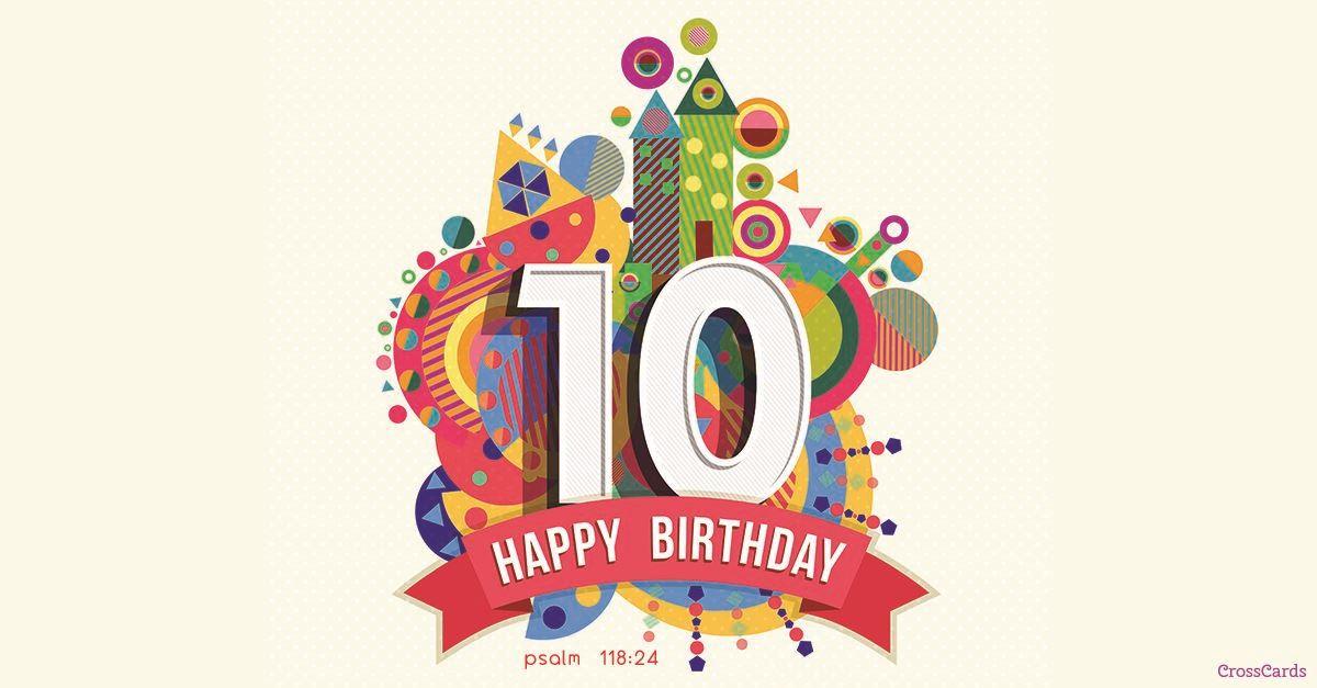 10th Birthday ecard, online card