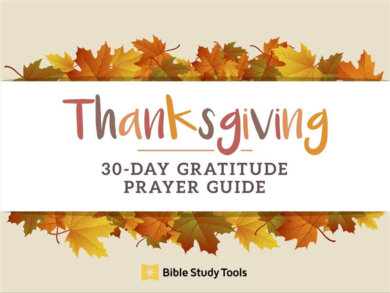 30-Day Gratitude Prayer Guide