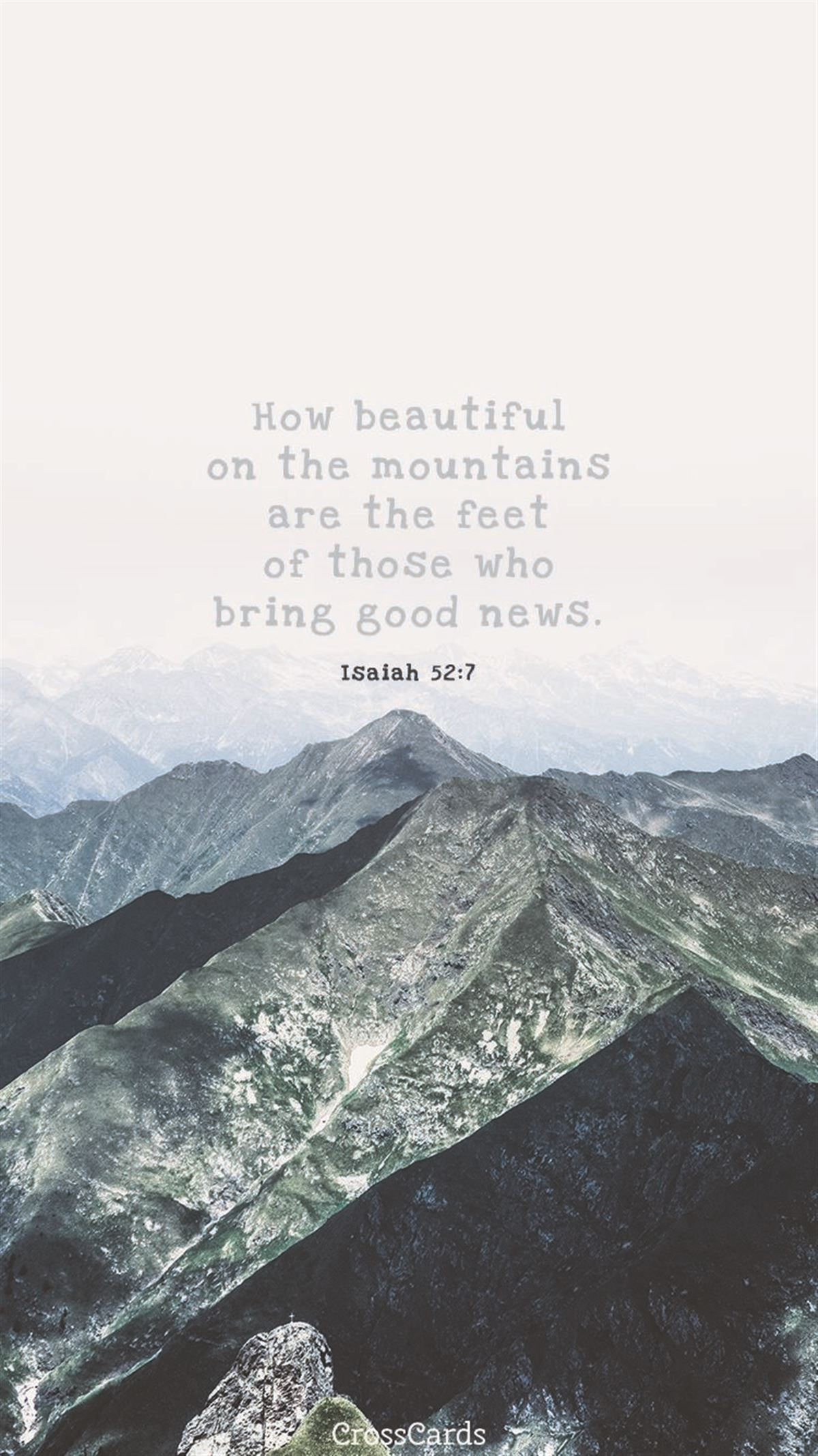 Beautiful Mountains ecard, online card