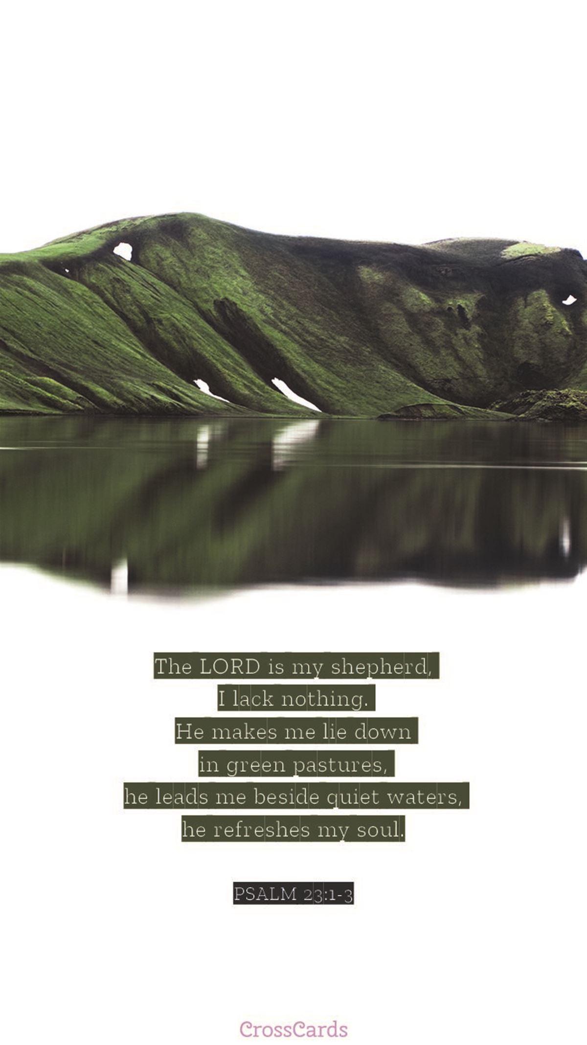 Psalm 23 ecard, online card