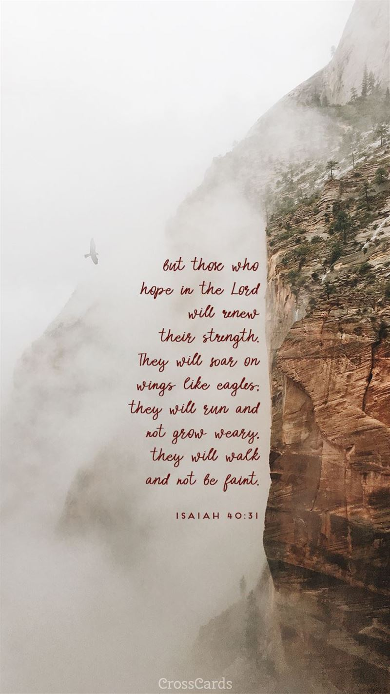 Isaiah 40:31 mobile phone wallpaper