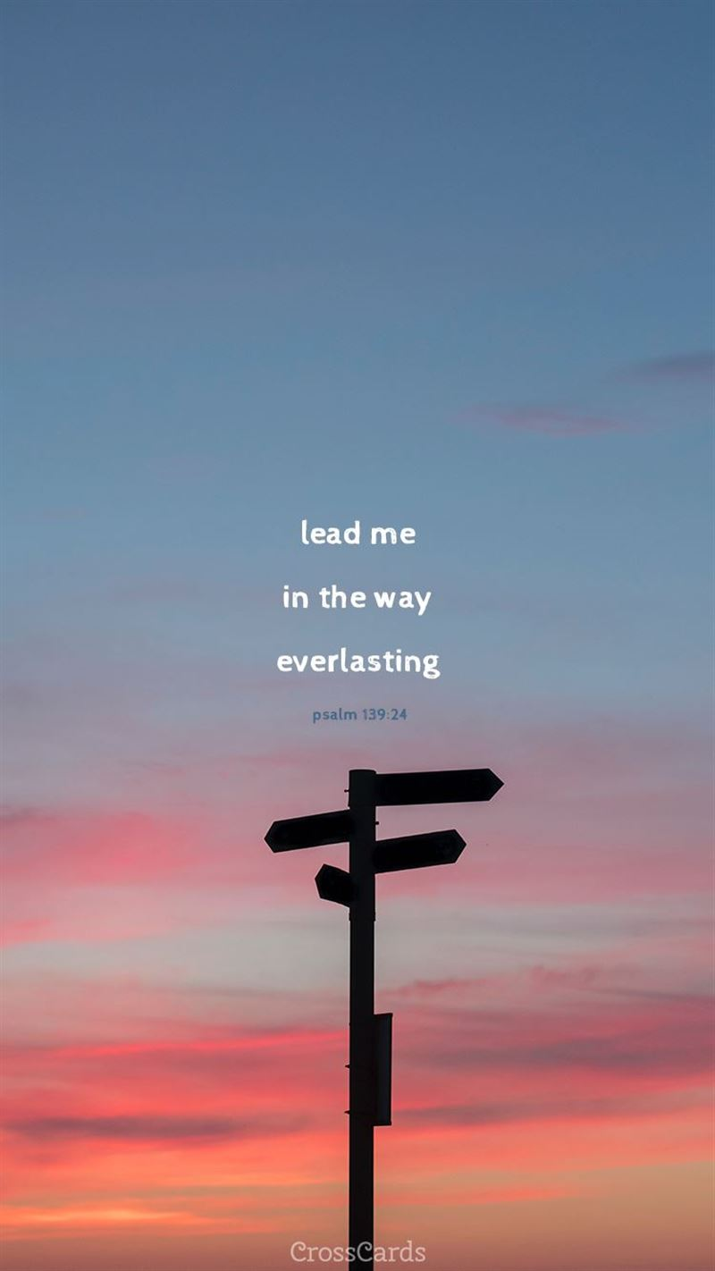 Lead Me - Psalm 139:24 mobile phone wallpaper