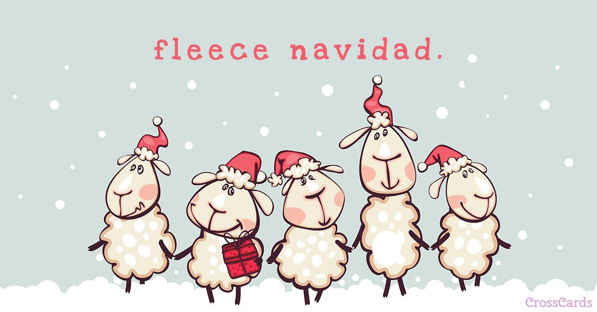 Fleece Navidad ecard, online card