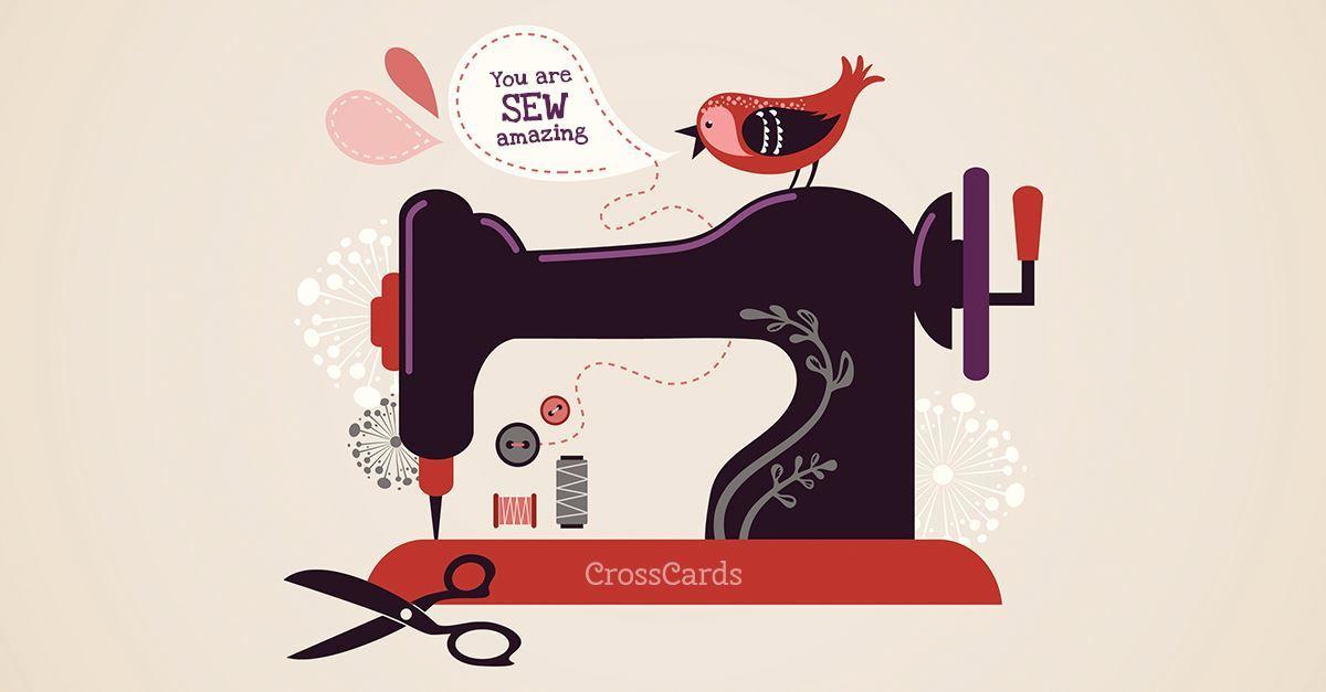 Sew Amazing ecard, online card