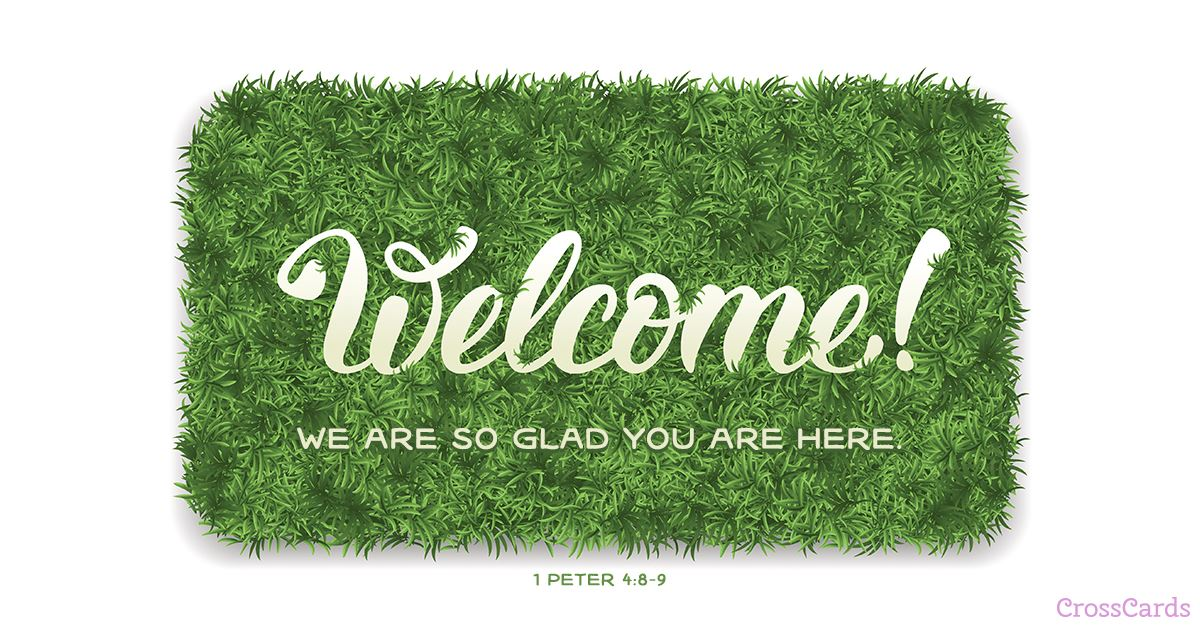 Welcome! ecard, online card