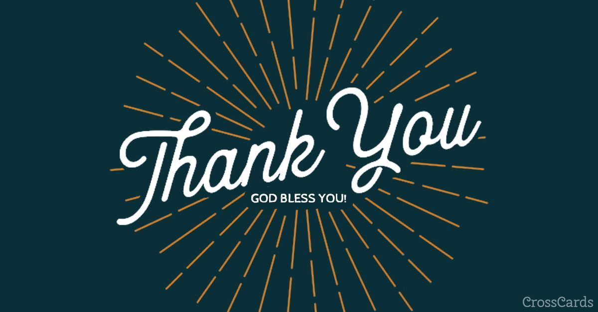 Thank You - God Bless You ecard, online card