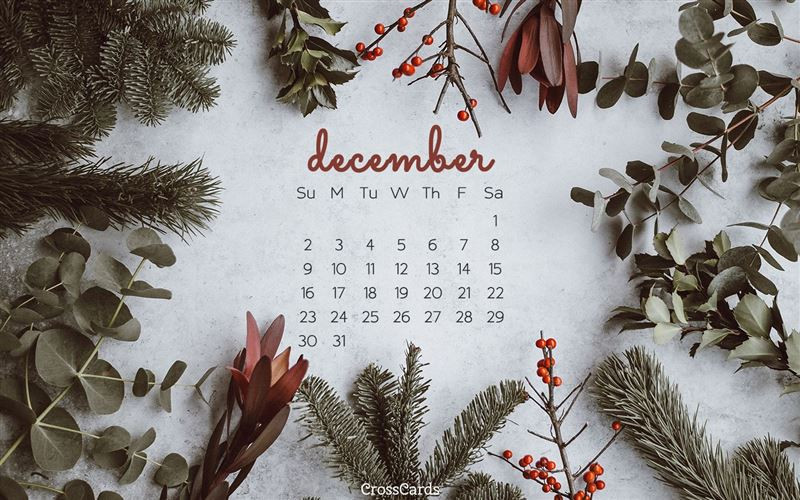 December 2018 - Greenery mobile phone wallpaper