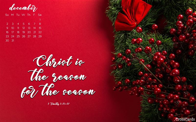 December 2018 - Reason for the Season mobile phone wallpaper