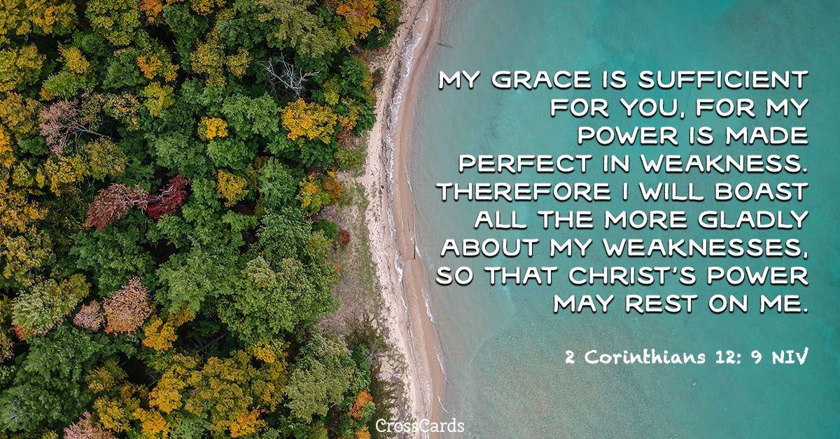2 Corinthians 12:9 ecard, online card