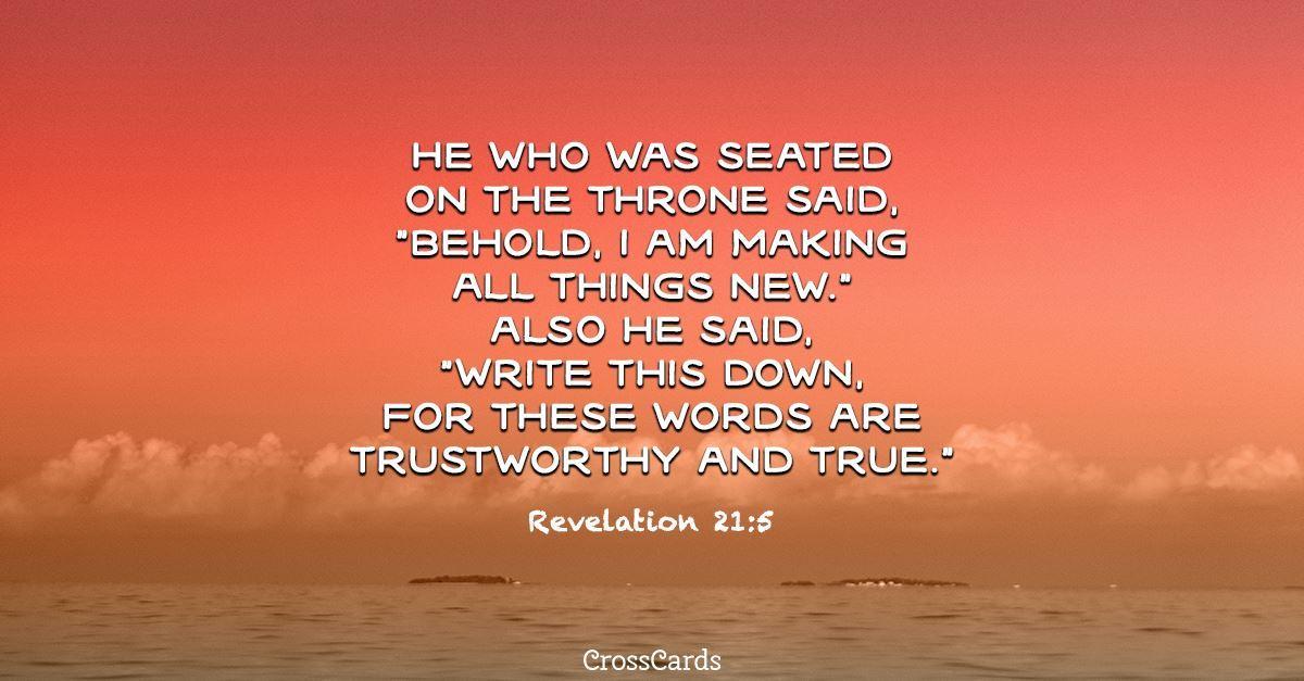 Revelation 21:5 ecard, online card