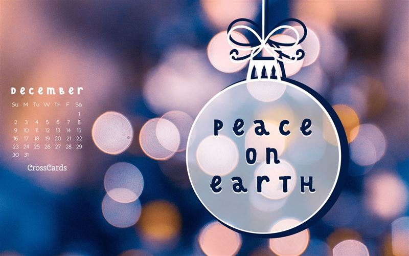 December 2018 - Peace on Earth mobile phone wallpaper