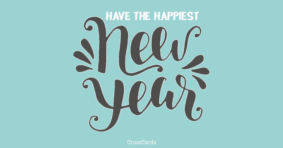happiest new year ecard online card