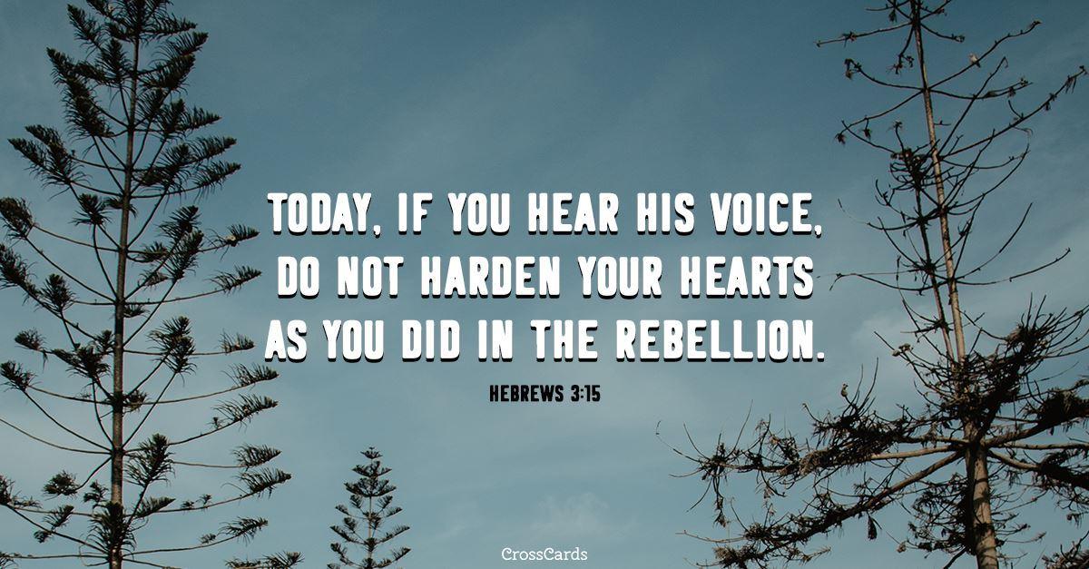 Hebrews 3:15 ecard, online card