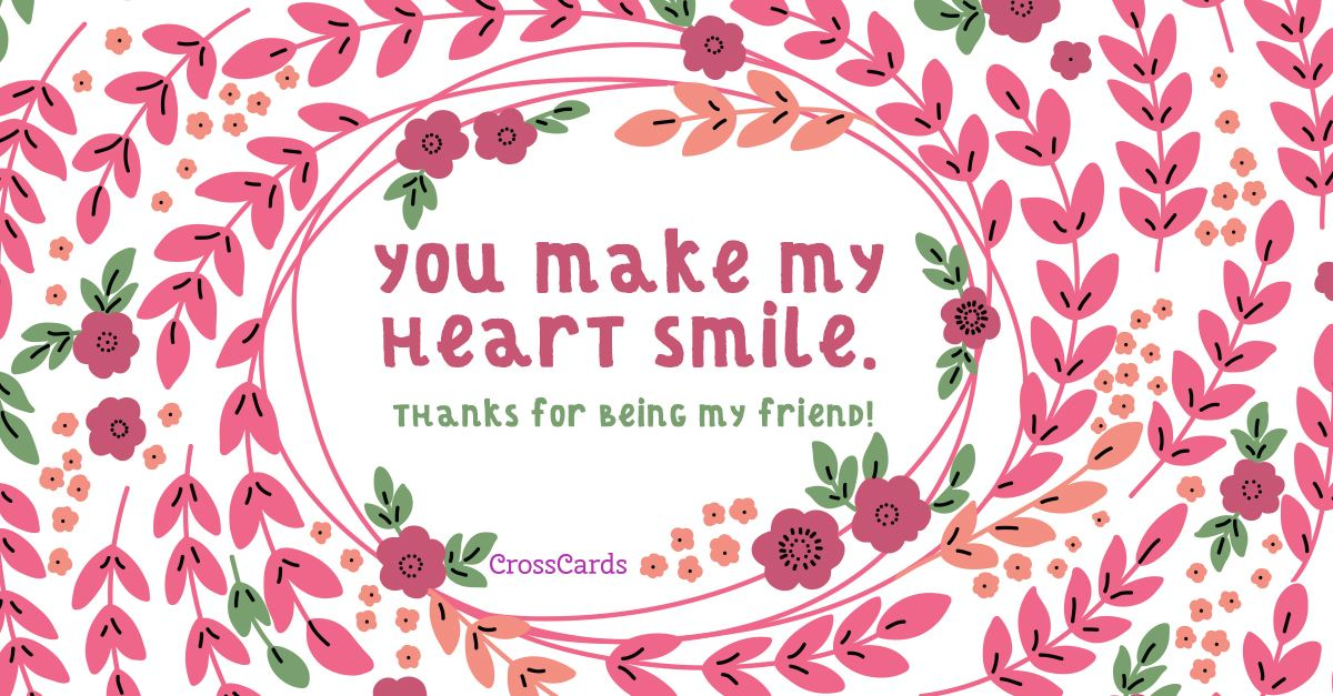 Heart Smile ecard, online card