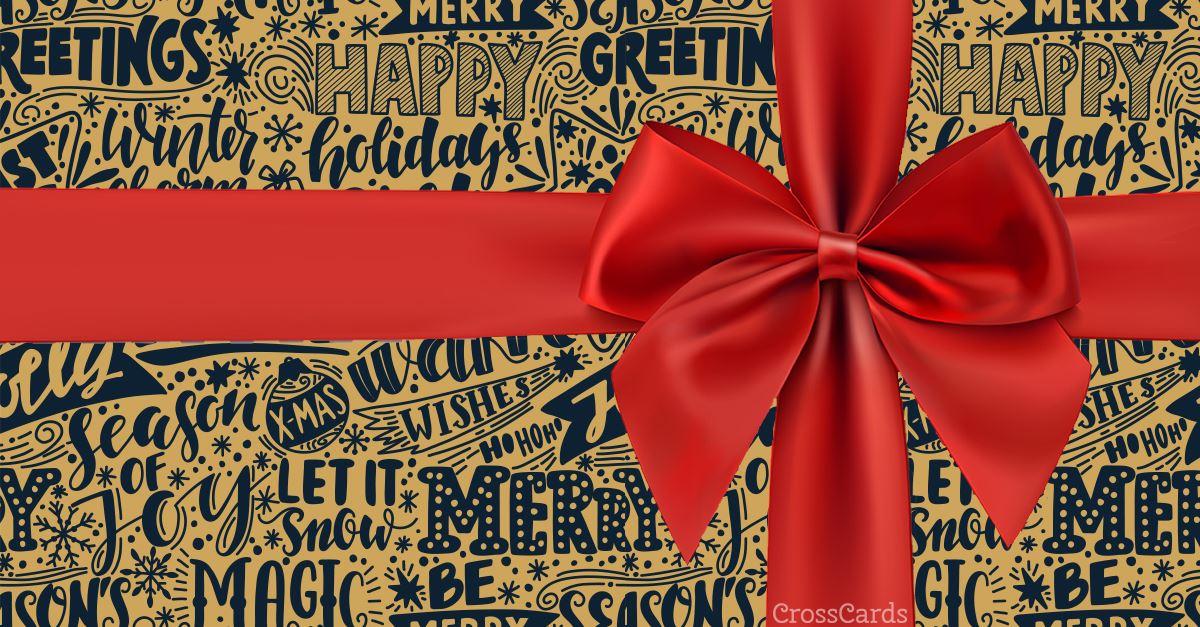 Christmas Present ecard, online card