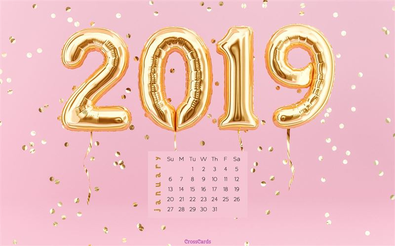 January 2019 Calendar Desktop January 2019   Pink 2019 Desktop Calendar  Free January Wallpaper