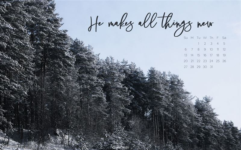 January 2019 All Things New Desktop Calendar Free January