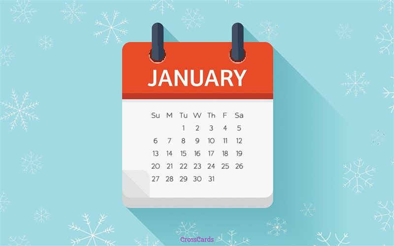 January 2019 - Calendar mobile phone wallpaper
