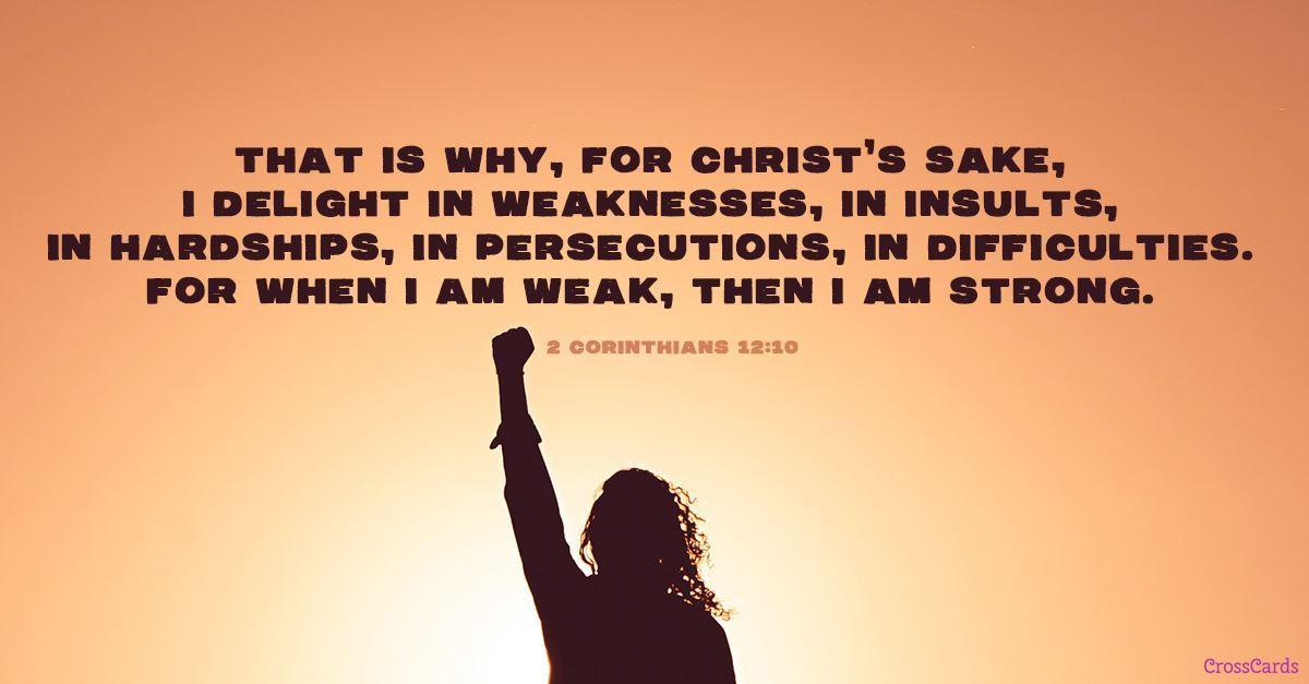 2 Corinthians 12:10 ecard, online card